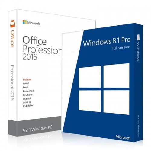 Электронные лицензии Windows 8.1 Professional + Office 2016 Professional Plus 32 / 64 Bit