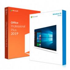 Электронные лицензии Windows 10 Home ESD + Office 2019 Professional Plus 32 Bit
