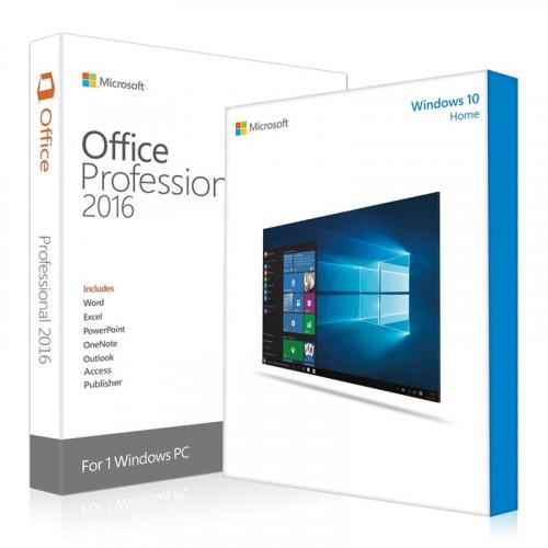 Электронные лицензии Windows 10 Home + Office 2016 Professional Plus 32 / 64 Bit